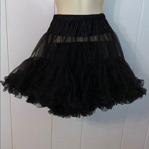 Black polyester tutu
